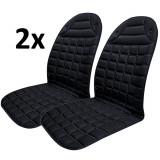 Set 2x Huse Scaune Auto cu Incalzire 12V Reglabile pe 2 Trepte Confort Premium, Putere 42W