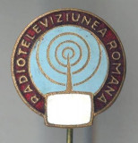 Insigna Realizari romanesti - Radio Televiziunea Romana - 1960 - Aniversare