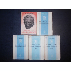 GEORGE CALINESCU - OPERA LUI MIHAI EMINESCU 5 volume (1934-1936, prima editie)