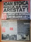 ziarul blitz magazin nr 25-art nae lazarescu,dan bittman,patrick swayze
