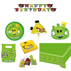 Pachet party Angry Birds King Pig, Radar Green, set 40 piese