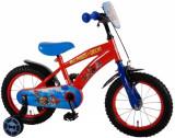Bicicleta Volare pentru baieti 14 inch cu roti ajutatoare Paw Patrol