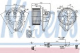 Ventilator, habitaclu VW LT II bus (2DB, 2DE, 2DK) (1996 - 2006) NISSENS 87039