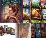 Carti tarot Gilded Lenormand+cartea in limba romana gratis+cadou un set de rune