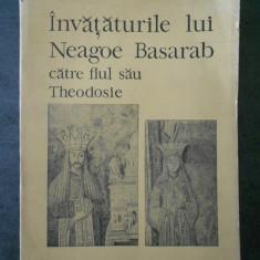 FLORICA MOISIL - INVATATURILE LUI NEAGOE BASARAB CATRE FIUL SAU THEODOSIE
