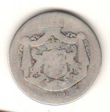 SV * Romania  2 LEI 1872  ARGINT .835 * REGELE CAROL I * PRIMA MONEDA DE DOI LEI
