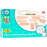 Set sine drepte si curbe (24 piese) PlayLearn Toys, Bigjigs