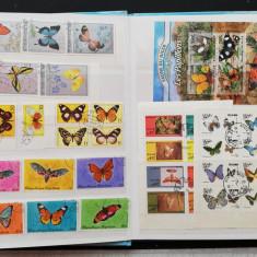 Colecti tematica FLUTURI ,60 serii si colite Obliterate - D 265A-G
