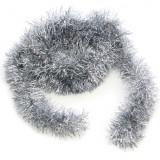 Beteala pentru Craciun, Lungime 6m, Culoare Argintiu, Diametru 5cm