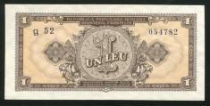 u626 ROMANIA 1 LEU 1952 SERIE ALBASTRA UNC NECIRCULATA foto