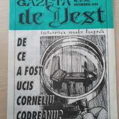 gazeta de vest noiembrie 1993-revista legionara-de ce a fost ucis c. codreanu?
