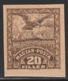 1919 Romania - Eseu rar 20f Vultur nedantelat GUMAT, Ocupatia Romana Debretin II