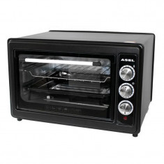 Cuptor electric Asel, 1300 W, 33 l, timer, termostat, Negru