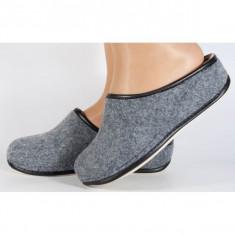 Papuci de casa gri din lana (cod 153032)
