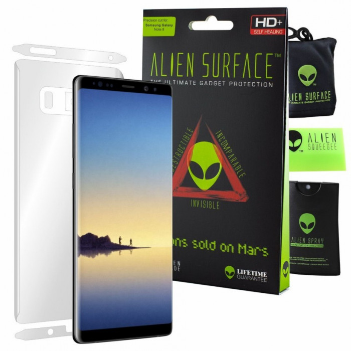 FOLIE ALIEN SURFACE HD, SAMSUNG GALAXY NOTE 8, PROTECTIE SPATE, LATERALE