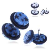 Piercing fals pentru ureche, din acrilic, cu stele - Culoare Piercing: Alb