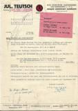 Factura Julius Teutsch pentru Fabrica de zahar Bod Brasov 1939
