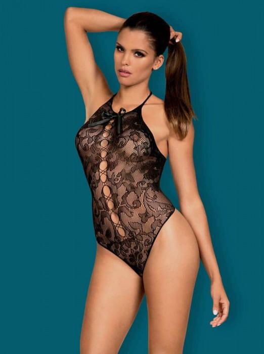 Body Sexy Din Dantela, Negru, S/M/L