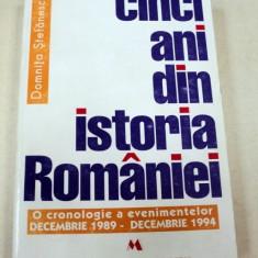 CINCI ANI DIN ISTORIA ROMANIEI-DOMNITA STEFANESCU BUCURESTI 1995