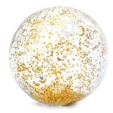 Minge pentru plaja Glitter Ball Intex, 71 cm, glitter auriu