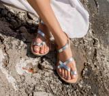 Cumpara ieftin Sandale Dama Grecesti Atena Argintii