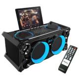 Cumpara ieftin Boxa profesionala portabila, Bluetooth, FM, LCD, dock pentru tableta, 120 W