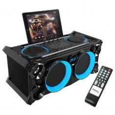 Boxa profesionala portabila, Bluetooth, FM, LCD, dock pentru tableta, 120 W
