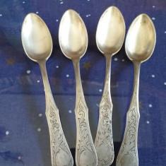 4 lingurite argint vechi Rusia