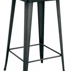 Masa patrata pentru bar ANTIQUE 60x60x105cm BLACK MATTE lemn si metal MN0195402 Raki