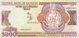 VANUATU █ bancnota █ 5000 Vatu █ 1989 █ P-4 █ UNC █ necirculata