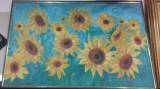 Tablou pictura floarea soarelui 10, Natura statica, Tempera, Realism