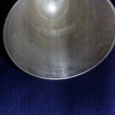 pahar vechi argintat stantat tip pocal,foarte frumos,Antichitate,T.GRATUIT