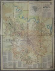 Planul orasului si al municipiului Bucuresti/ Harta editata de Socec foto