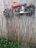 Decor exterior gradina motocicleta mare hand-made metal