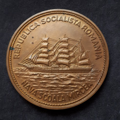 Medalie Marina Militara - Nava scoala Mircea - RSR