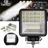 Proiector LED Auto 126W Offroad ATV SUV Tractor Proiectoare LED 126 48