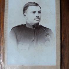 FOTOGRAFIE VECHE - MILITAR - ATEL. FOTO SCHULLER - ADLER - BRASOV - INCEPUT 1900