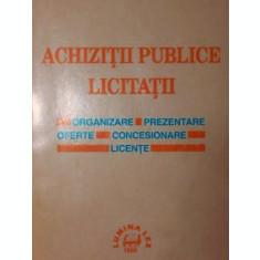 ACHIZITII PUBLICE LICITATII - ***