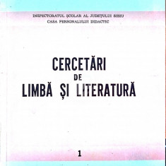 Cercetari de limba si literatura