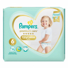 Scutece Pampers Premium Care Pants 6 Value Pack, 31 buc/pachet