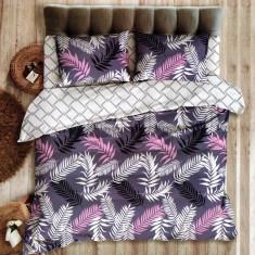 Lenjerie de pat din Bumbac pentru 2 persoane cu 4 piese HX 33, 230x250 cm, Set complet