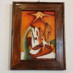 INCHINAREA MAGILOR-ICOANA PE STICLĂ-ULEI +FOITA DE AUR-ARTIST IONELA VARGA