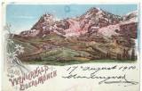 AMS* - LITOGRAFIE WENGERNALP EIGER&MONCH CIRCULATA 1900