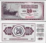 = IUGOSLAVIA - 20 DINARA – 1978 – UNC   =