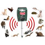 Cumpara ieftin Aparat solar cu ultrasunete impotriva animalelor salbatice, 5 moduri, senzor IR, fixare in pamant