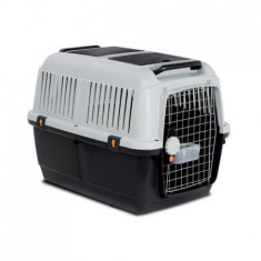 Cusca transport animale , Bracco travel 5 , usa metal , Gri Negru 81 x 60 x 61.5 cm Pet Star