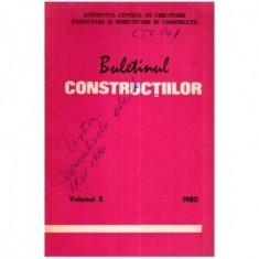 Buletinul constructiilor vol. 5, 1980