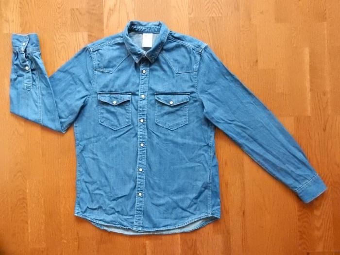 Camasa blugi H&M Denim. Marime M, vezi dimensiuni exacte; impecabila