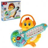 Orga, chitara de jucarie in forma de puisor cu sunete pentru bebelusi.