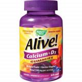 Alive!, Calcium + D3 Gummies, 60jeleuri, Nature's Way